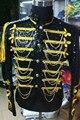 Сценический костюм куртка вечернее платье пиджак верхняя одежда платье мужской вышла замуж за королевский загрузки для певицы танцор звезды производительность