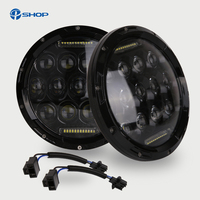 7inch 75w LED Headlight For Jeep Wrangler JK 4x4 Led H7 Headlights With H4 H13 Hi