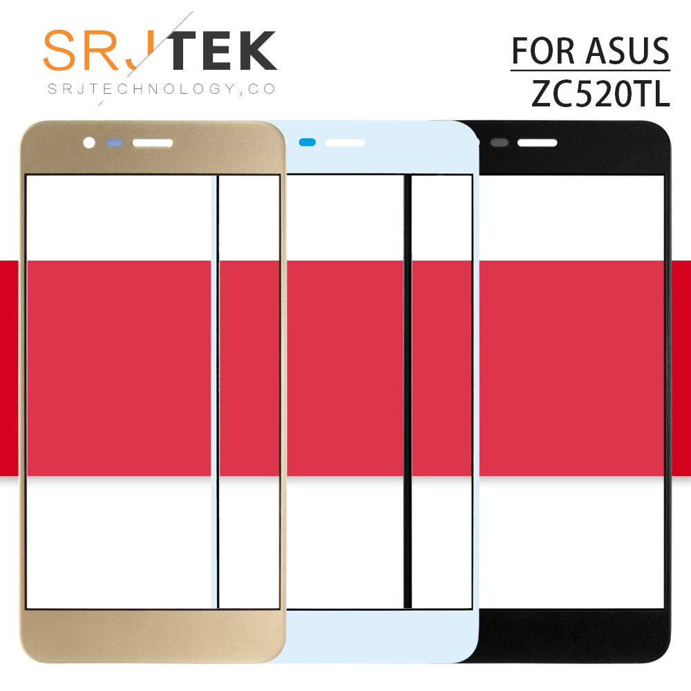 Srjtek 5.2inch For <font><b>ASUS</b></font> <font><b>Zenfone</b></font> 3 Max ZC520TL <font><b>X008D</b></font> Outer <font><b>Glass</b></font> Front Lens Screen Replacement Parts Black/White/Gold image
