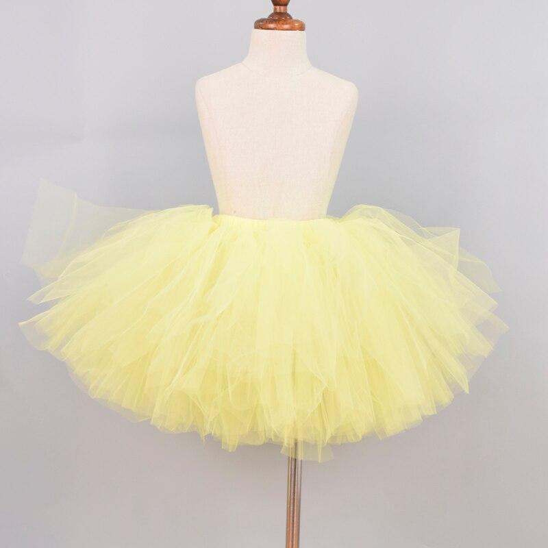 Light Yellow Fluffy Tutu Skirt Baby Birthday Party Costume Girls Ballet Tulle Skirt School Skirt For Girls 0 12Y Cake Smash in Skirts from Mother Kids