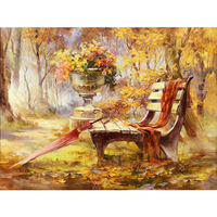 Diy5d Picture Autumn Scenery Bedroom A Living Room Fully jewelled Cross Embroidery Masonry Stick Drill