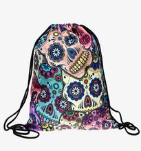 Mexican Skull 3d Print Drawstring Bags Backpack Mochilas Who Cares Brand Women Men's Travel Bag School Bags for Teenagers
