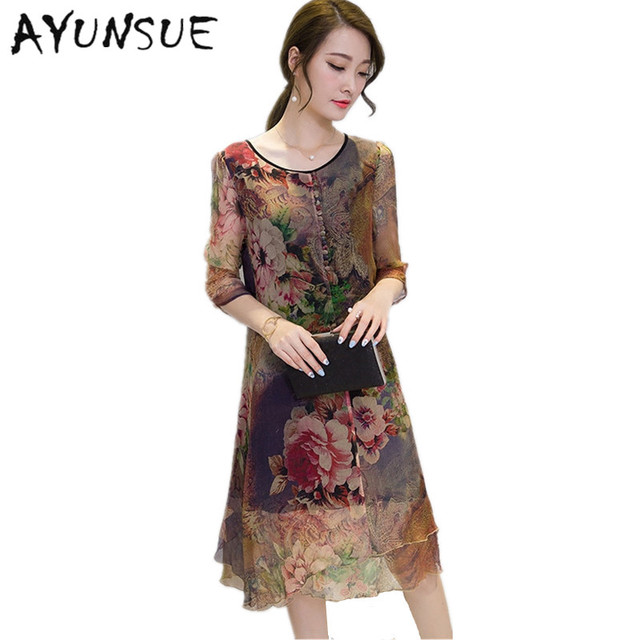 2018 Half Sleeve Vestido Vintage Dress Plus size 4XL Medium Long ...