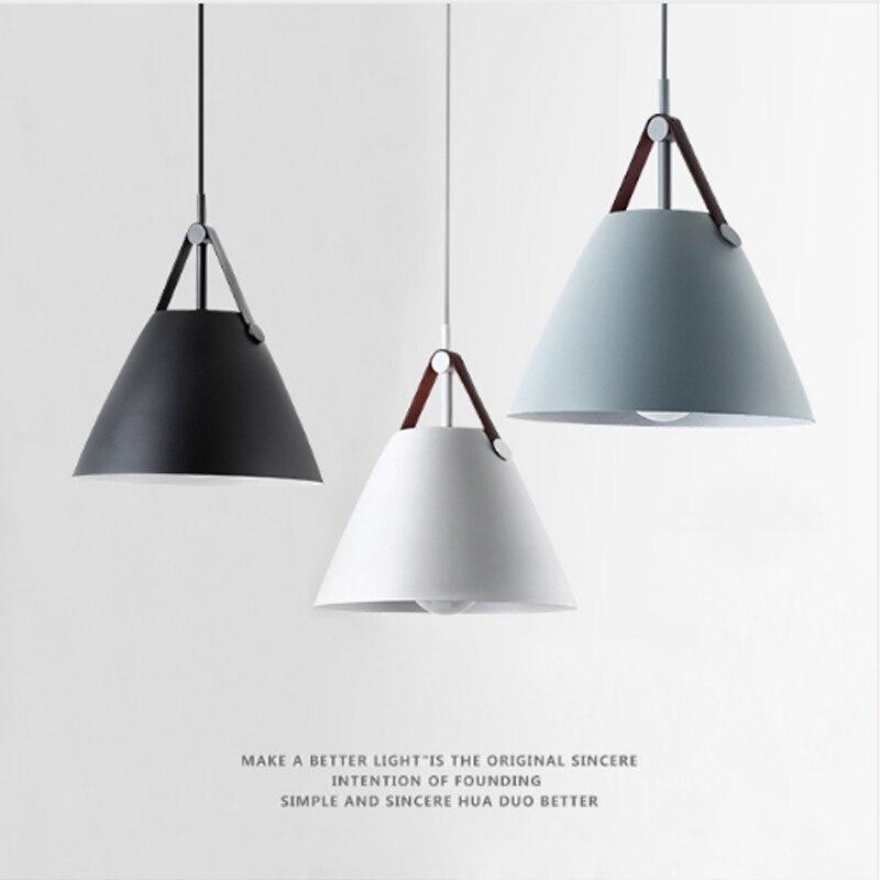 Современный краткое характер подвесной светильник Nordic минималистский Ресторан Главная деко подвесной светильник Спальня E27 светодио дный ...