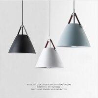 Modern Brief Character Pendant Lamp Nordic Minimalist Restaurant Home Deco Pendant Light Bedroom E27 LED Bulb Lamp