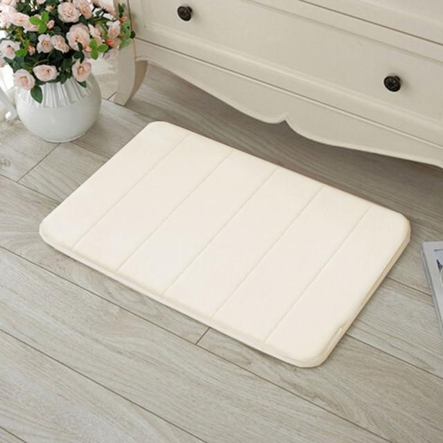1pc Por Memory Foam Rug Bath Pad Bathroom Bedroom Non Slip Mats Shower Carpet 40