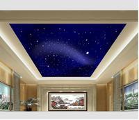 Wallpaper 3d Stereoscopic Meteor Sky Ceiling 3d Wallpaper Modern For Living Room Murals Wall Decoration