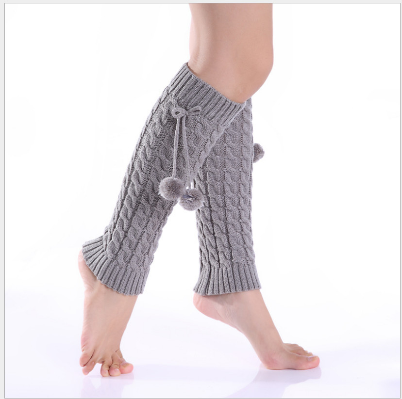 2019 Fashion Women's Autumn And Winter Knit Socks, Hemp Pattern, Ball Loose Wool Leg Sets, Knee Pads Leg Sleeve