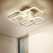 New Aluminum Modern LED chandelier Rectangular combination Surface mount lighting 54W~180W For living room bedroom
