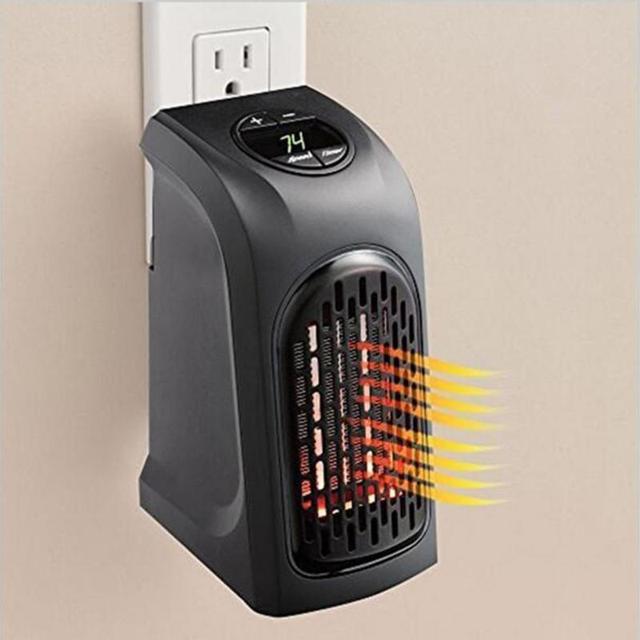 Mini Portable Electric Handy Plug-In Heater Hand Warmer Wall Heater Hotel Kitchen Bar Bathroom EU UK Plug Electric Radiator