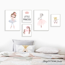 цены Nordic Nursery Canvas Unicorn Wall Pictures Nordic Style Painting Cartoon Animal Prints Wall Poster for Kids Bedroom Unframed