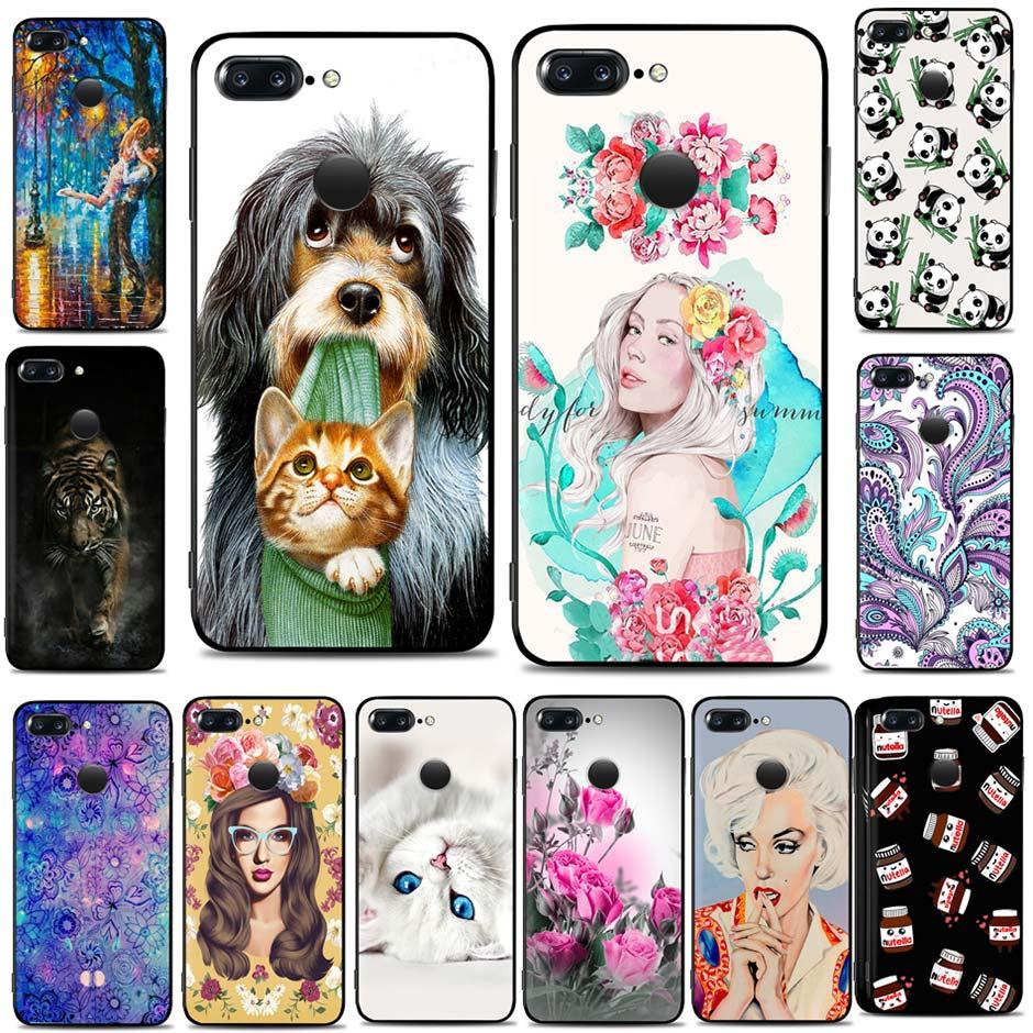 Fashion Case For Oneplus 5T A5010 6.01 Soft Silicone TPU Black Phone Case For One Plus 5 T Back Cover oneplus 5T A5010 Fundas
