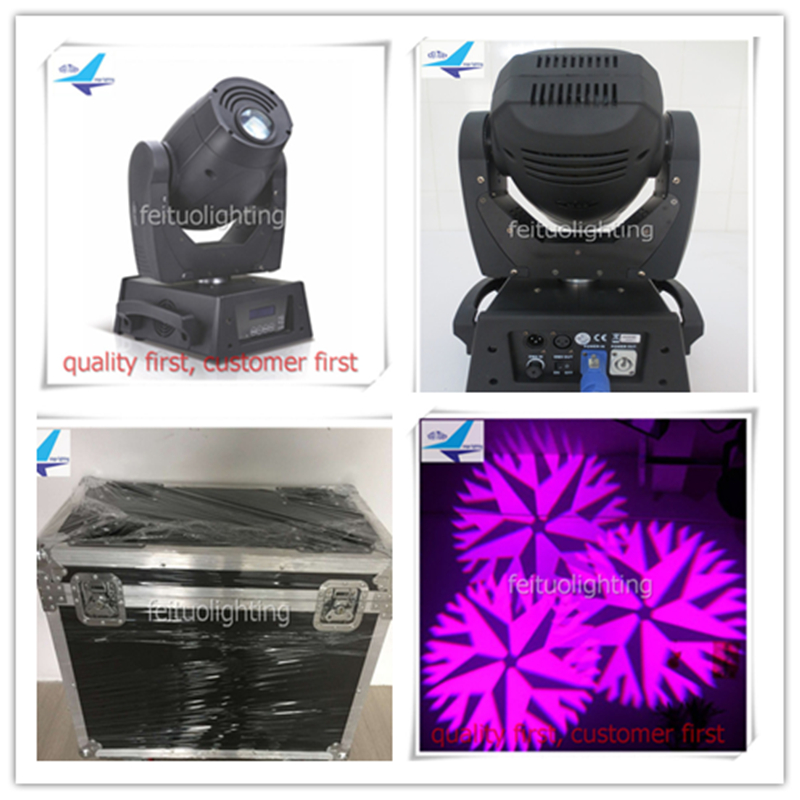 6pcs/lot free shipping flight case Powercon in and out dichroic spots led moving head lights spot 150w 6pcs lot free