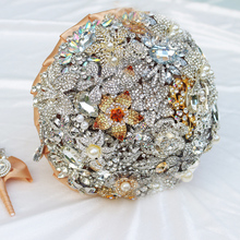 IFFO Luxurious wedding accessories Brooch Brown Silver