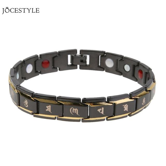 Black Anium Men Healthy Magnet Bracelets Bangles Bio Energy Therapy Bracelet Male Jewelry Christmas Gift