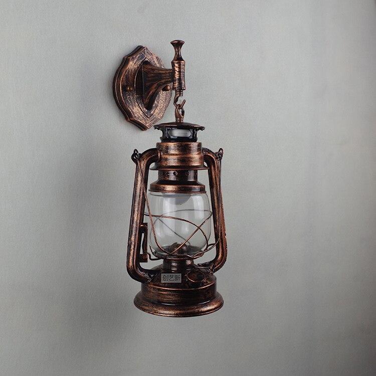 Moderne retro kerosine muur lampen led lampen woonkamer Iron ...