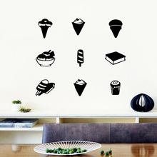 Fashion fast food Stickers Home Decoration Nordic Style vinyl Sticker Mural