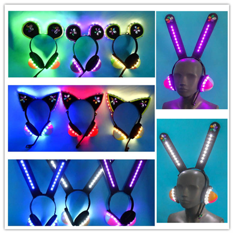 Hot Sale Love Live Cyber Idolized LED Headset/headphone Cosplay Prop All Members Headpiece Can Be Lighted For Halloween Party