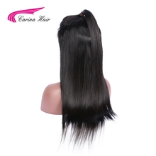 Carina Hair 150 Density Brazilian Full Lace Wig Human Hair Wigs Natural Color Silky Straight Remy Human Hair For Black Women