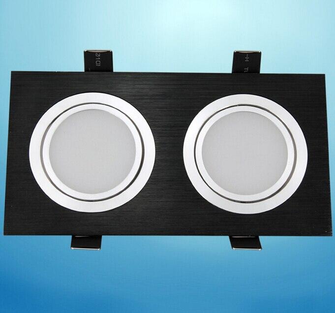 Бесплатная доставка 14 Вт затемнения двойной утопила Подпушка свет теплый белый холодный белый для фойе столовой Кухня AC85-265V
