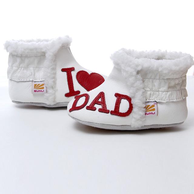 Niños Botas para la Nieve Botas de Bebé de Cuero de Invierno Para Chicas Calientes chicos Botas de bebé Zapatos de Bebé Amor 0-24 m soft sole infant botines