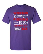 """""""Weekend Forecast"""" fisherman beer drinker t-shirt"""