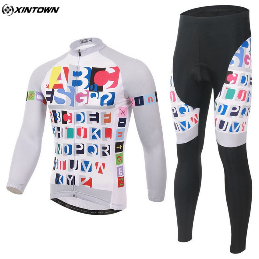 XINTOWN Mtb Sportswear Riding Cycling Clothing Roupa Ciclismo Breathable Winter Men Long Cycling Jersey Set CC0360