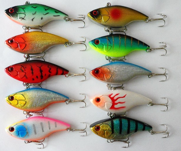 2PCS/Lot 7.5CM 18G 10-Colors 3D Eyes Beads Inside <font><b>Vibration</b></font> Vib <font><b>Lures</b></font> <font><b>Fishing</b></font> <font><b>Lures</b></font> <font><b>Hard</b></font> <font><b>Baits</b></font> Fake Artificial <font><b>Baits</b></font> NR0038