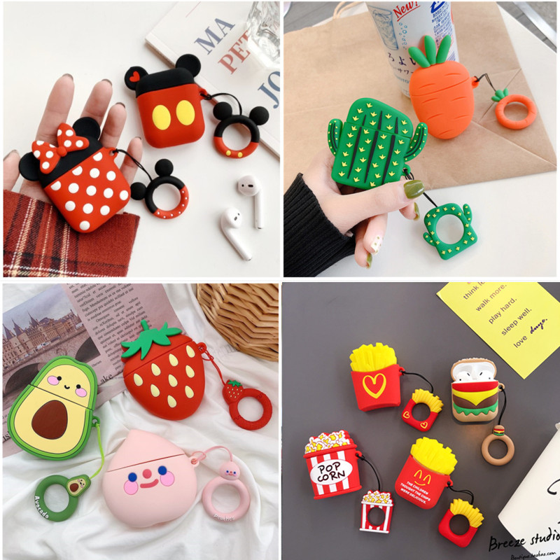 Earphone-Case Box Pouch Protector Ring Skin-Sleeve Airpods Carrying Apple Silicone Wireless