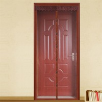 FUYA Magnetic Sheer Door Curtain Instant Screen Door Mosquito Net Magnet Stripes Solid Curtain Mesh