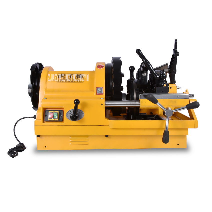 New Arrival SQ100D1 1/2-4 Electric Pipe Threader,4 Inch Pipe Diehead Threading Machine 220v / 380v 50HZ / 60HZ 750W 24 / 10RPM