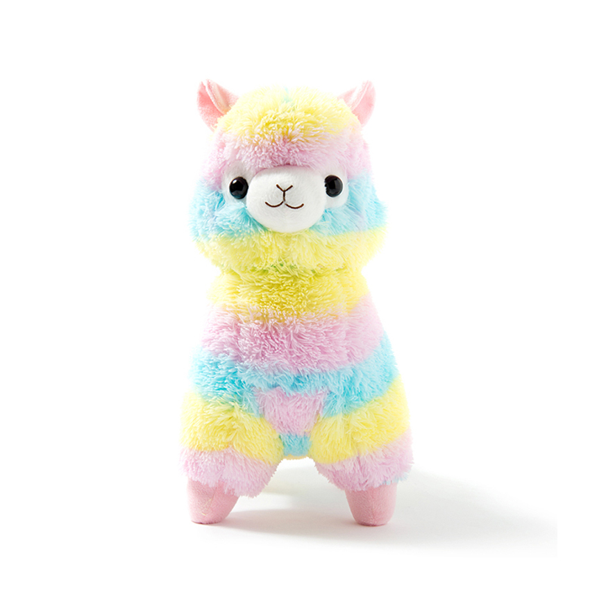 цены 35cm Rainbow Alpaca Plush Toy Vicugna Pacos Japanese Soft Plush Alpacasso Sheep Llama Stuffed Toy Gifts for kids and Girls