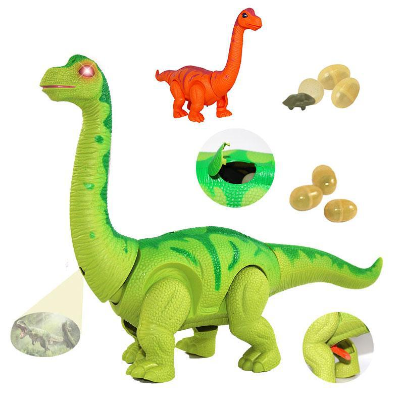 цена Electronic Dinosaur Electronic Toy Jurassic World Dinosaur Electronic Pet Walk Lay Eggs Model Toys For Boys Birthday Gifts