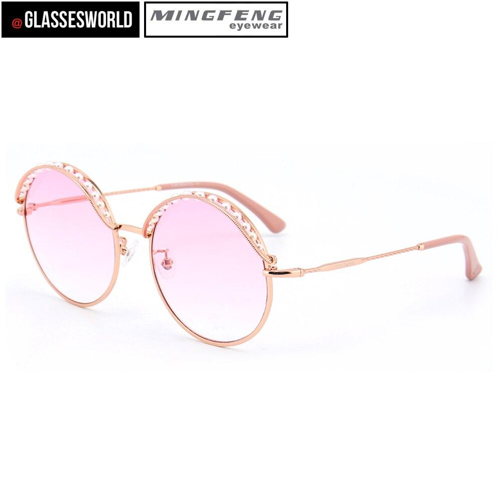 Stil Perle Von Sonnenbrille Neue Runde M2583 Metall Mode Roun P7w0da