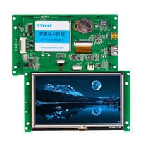 5.0 Programmable Operator Panel HMI with RS232 RS485 TTL UART Port for Industrial Use