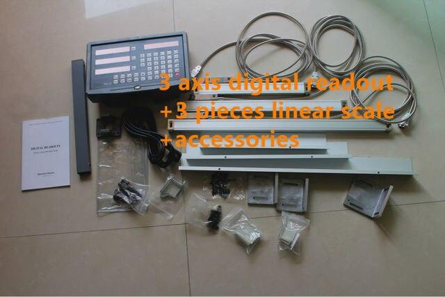 Ue RU stock dobrej jakości DRO 3 osi cyfrowy odczyt + 3 sztuk skala liniowa podróży 150 1020mm enkoder liniowy kompletny dro jednostka