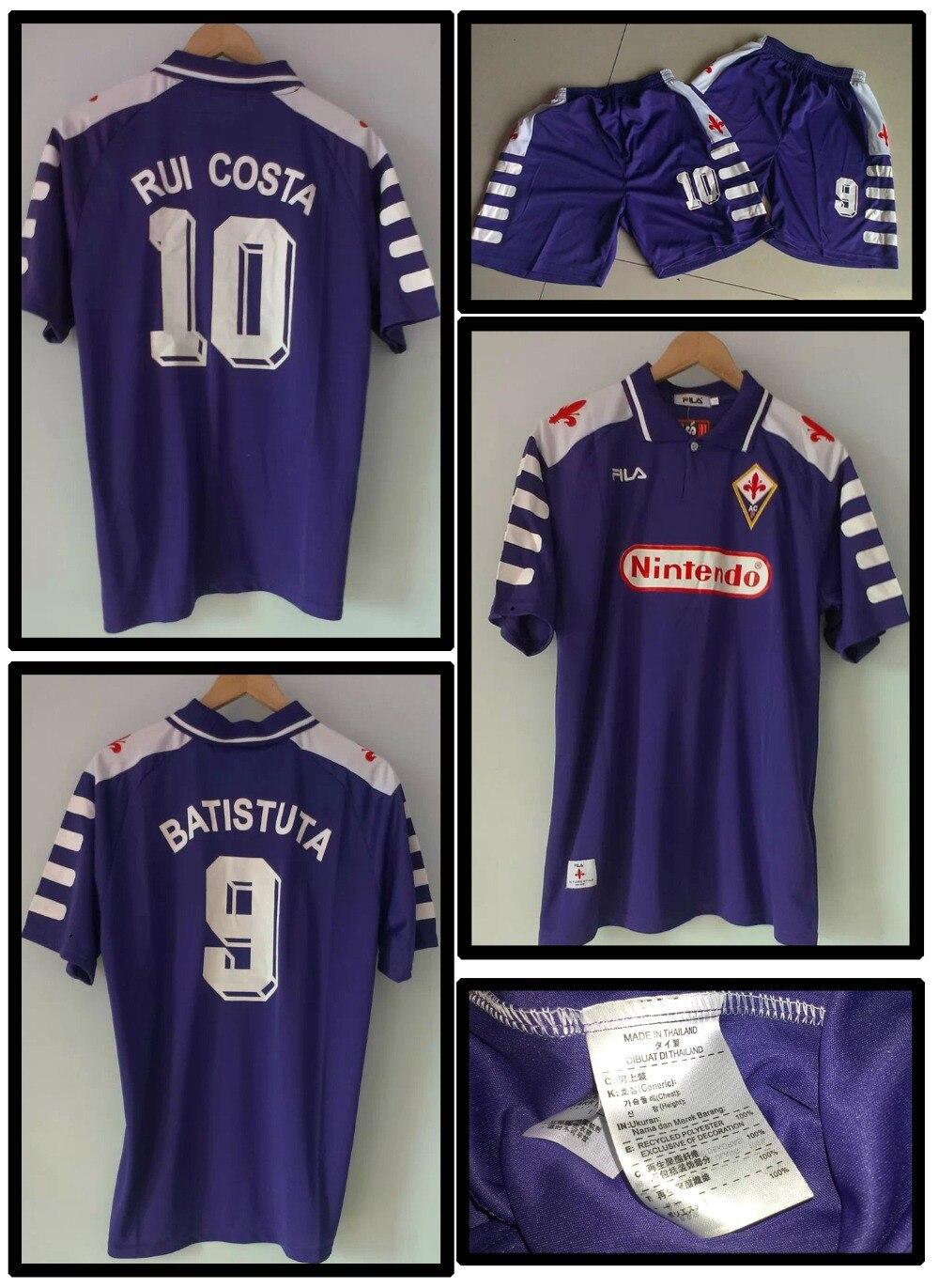 Retro Jersey Fiorentina Batistuta Rui Costa temporada 98