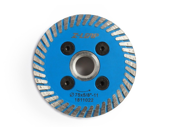 Diamond Mini Turbo Cutting Blade With Removable Flange M14 5/8-11 Diamond Carving Disc Saw Blade For Stone Granite - 75mm