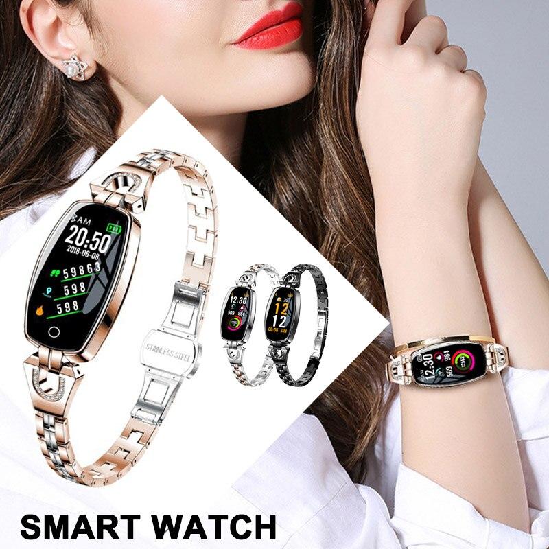 Femmes montre intelligente couleur écran Bracelet montre fréquence cardiaque tension artérielle activité Fitness Trackers KQS8