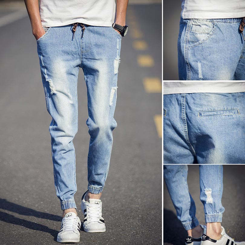 Aliexpress.com : Buy 2016 Fashion Designer Jeans Mens Ripped Jeans ...