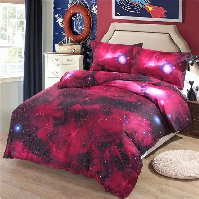 ef32bba73a placeholder The Sky Stars Hipster Galaxy Quilt 4Pcs Cotton Bedding-set 1  Duvet cover 1 Bed