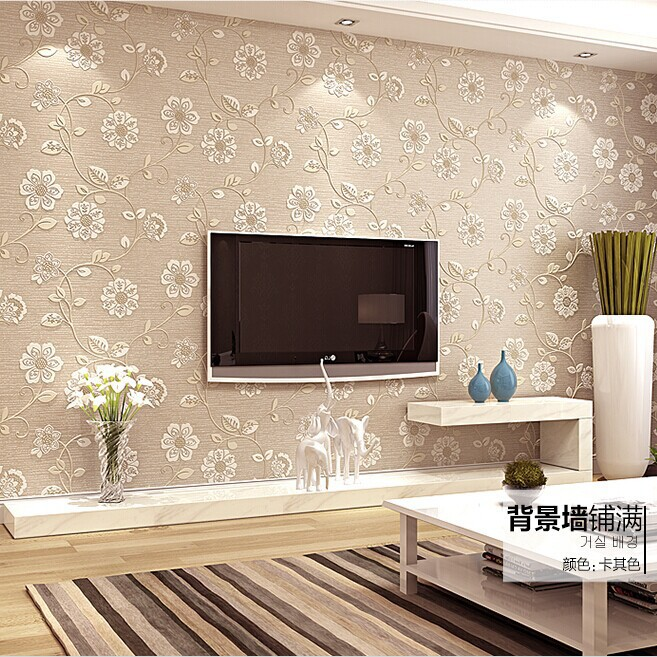 2015 Limited Tapete Wallpapers European Damascus Wallpaper 3d Stereoscopic Thick Background Wall Paper The Living Room Bedroom custom baby wallpaper snow white and the seven dwarfs bedroom for the children s room mural backdrop stereoscopic 3d