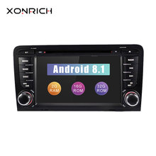 Car DVD Player 2din Android 8.1 Head unit For Audi A3 8P S3 RS3 Radio 2003 2004 2005 2006 2007 2008 2009 20102011 Multimedia GPS