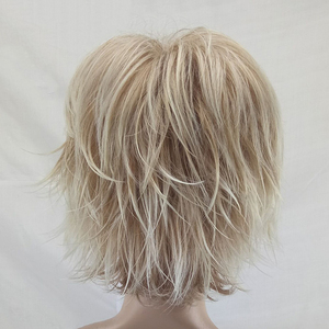 Image 5 - HAIRJOY White Women Synthetic Hair Wigs Blonde Short Curly Wig Heat Resistant  Hairstyle 2 Colors Available Free Shipping