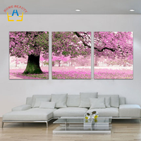 Diy Oil Painting By Numbers Triptych Acrylic Painting Coloring Paint By Number Hand Painted Wall Decor