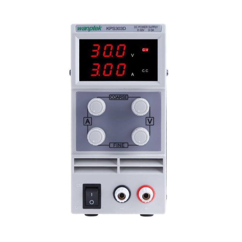 Adjustable High precision double LED display switch DC Power Supply protection function DC 30V 3A Power Supply four digit display rps3003c 2 adjustable dc power supply 30v 3a linear power supply repair