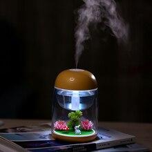 Mini Portable Mist Humidifier Transparent Diffuser