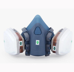 Image 3 - 3M 7502 Half Face Gas Mask 27 In 1 Suit Chemcial Industry Spray Paint Respirator Safety Work Mask With 3M 1100 Earplug