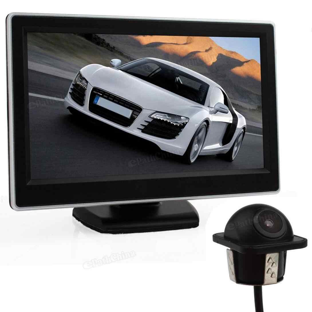 5-дюймовый экран TFT-ЖК-дисплей Цифровой walkie talkie Автомобильное зеркало заднего вида монитор lcd-дисплей с 170 Широкий формат автомобиля зеркало заднего вида парковочная комплект Камера