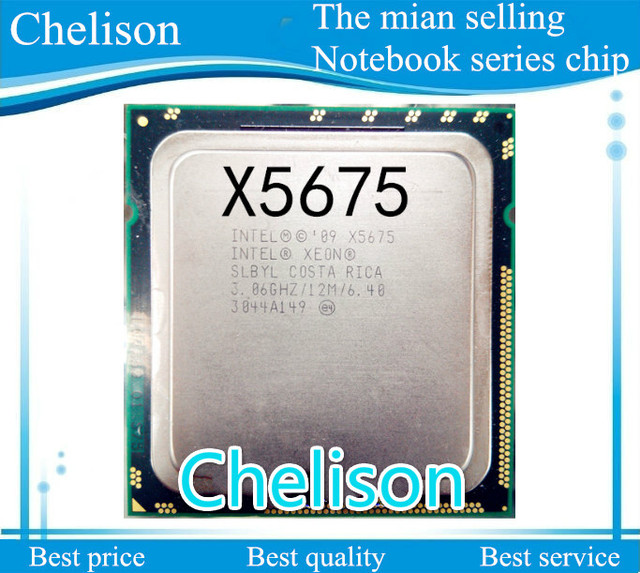 FREE SHIPPING NEW CPU CHIPS X5675 CPU 3.06GHZ A central processor cpu cooler